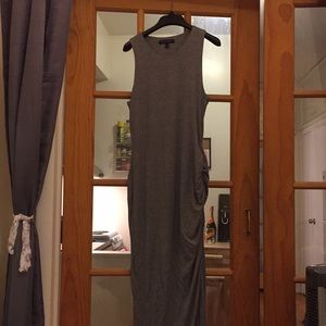 Banana Republic knit grey midi dress
